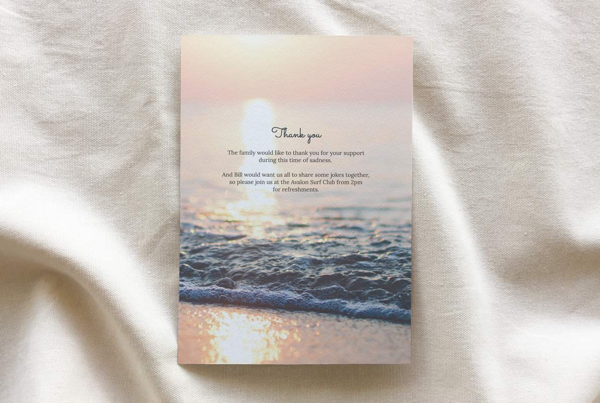 funeral booklet template - Customised Aura theme