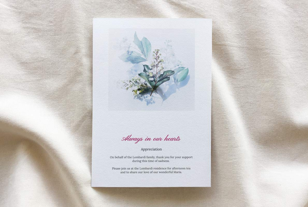 funeral booklet template - Customised Grace theme